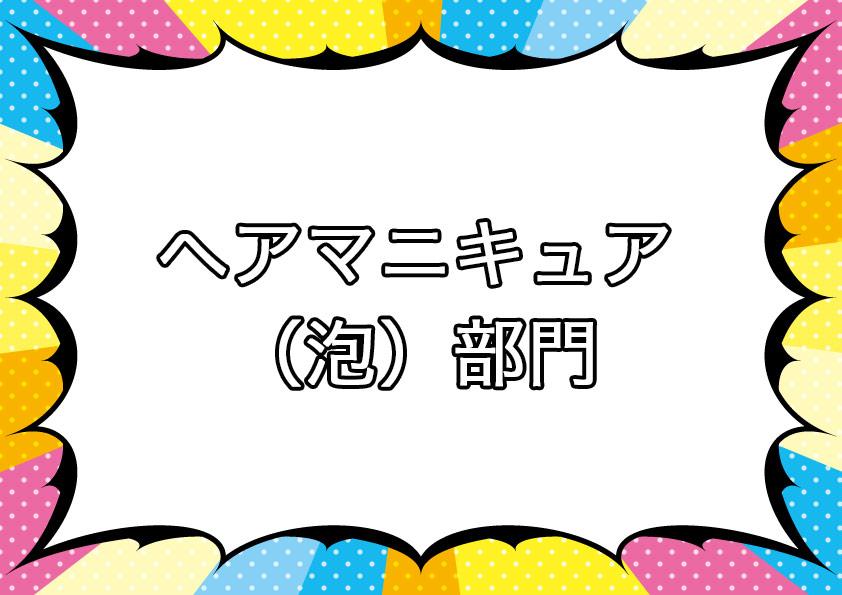 ヘアマニキュア(泡)部門