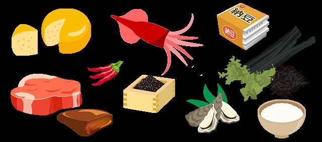 鉄亜鉛が多い食べ物,牡蠣,牛肉,レバー,ご飯,わかめ,スルメ
