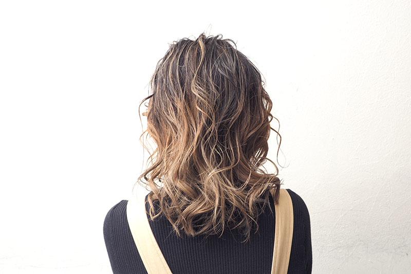 低めポニーテールヘアアレンジベース