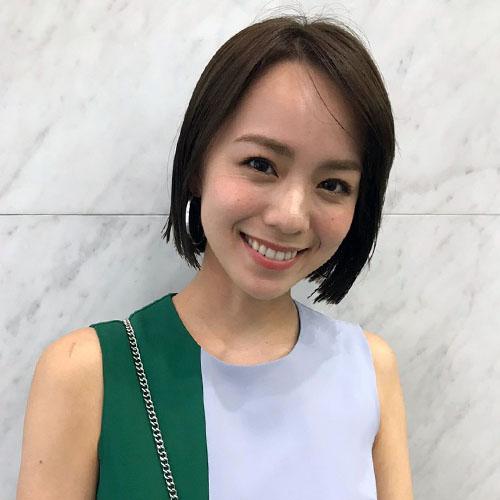 黒田まゆか,王道ショートボブ×トレンドベージュ×艶感スタイリング