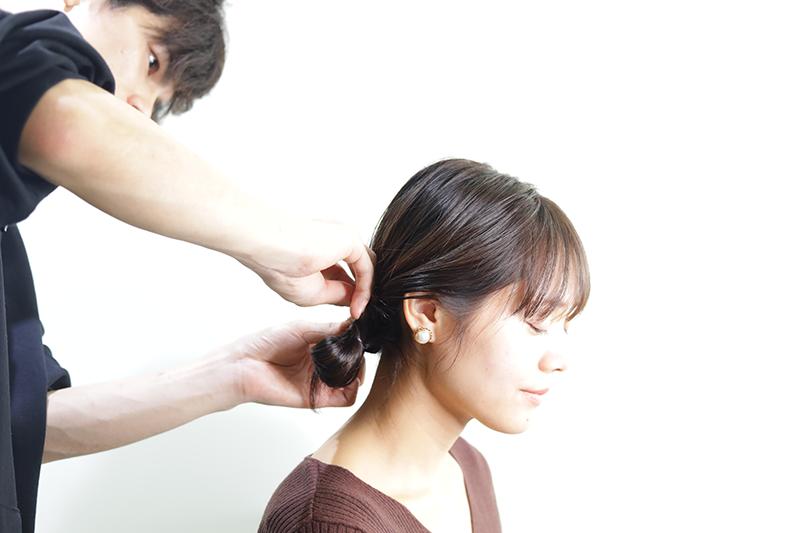 美容師とモデル