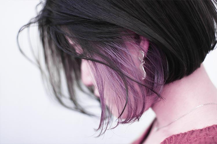 ラベンダーアッシュカラー,薄紫色